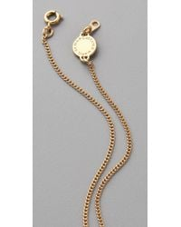 Marc By Marc Jacobs - Metallic Mini Charm Tiny Bow Pendant Necklace - Lyst