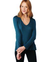 Splendid | Blue Light Jersey Long Sleeve Scoop Tee | Lyst