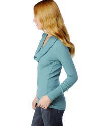 Splendid - Blue Thermal Cowl Neck Tunic - Lyst