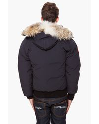 Canada Goose - Blue Wyndham Fur-trimmed Down Parka for Men - Lyst