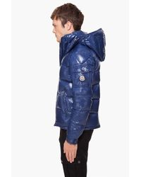 Moncler | Blue Hooded Maya Jacket for Men | Lyst