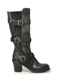 Fiorentini + Baker - Billie - Black Leather Buckle Boot - Lyst