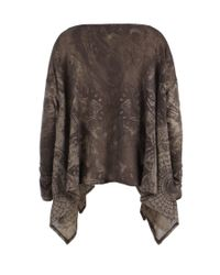 AllSaints - Brown Reflection Top - Lyst