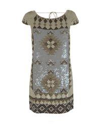 AllSaints | Metallic Paloma Dress | Lyst