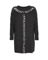 AllSaints | Black Laurentia Jumper Dress | Lyst