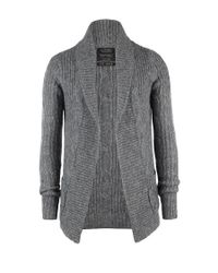 AllSaints | Gray Roulette Cardigan for Men | Lyst