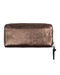 AllSaints - Bay Metallic Padlock Wallet - Lyst