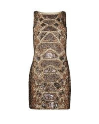 AllSaints | Metallic Embellished Python Dress | Lyst