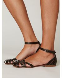 Free People - Brown Lex Leather Sandal - Lyst