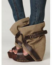 Free People | Brown Levon Platform | Lyst