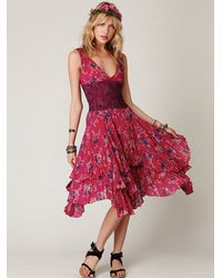 Free People | Multicolor Fp One Sunflower Wisteria Dress | Lyst