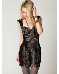 Free People - Black Gold Rush Dress - Lyst