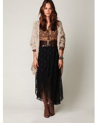 Free People | Black Midnight Train Mesh Skirt | Lyst