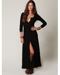Free People | Black Moon Duster Maxi | Lyst