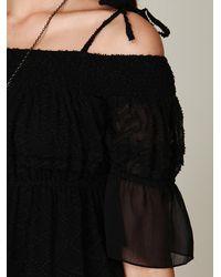 Free People - Black Off The Shoulder Dress - Lyst