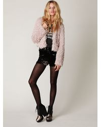 Free People - Black Sheer Tights - Lyst