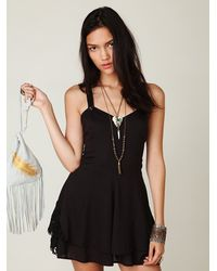 Free People | Black Summer Day Solid Romper | Lyst