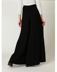 Free People | Black Super Wide Leg Pants | Lyst