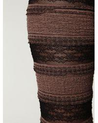 Free People - Black Two-tone Ruffle Legging - Lyst