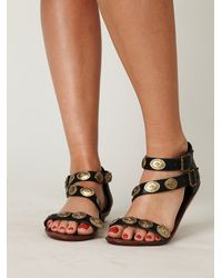 Free People | Black Concho Sandal | Lyst