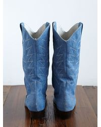 Free People - Blue Vintage Cowboy Boots - Lyst