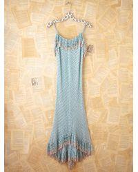 Free People | Blue Vintage Long Crochet Dress | Lyst