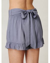 Free People - Blue Big Bow Ruffle Short - Lyst