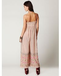 Free People - Pink Fp New Romantics Embellished Romper - Lyst