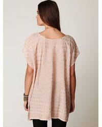 Free People | Pink Fp New Romantics Mesh Poncho | Lyst