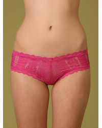 Free People - Pink Bright Cheeky Panty - Lyst