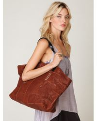 Free People - Brown Lexi Patched Tote - Lyst
