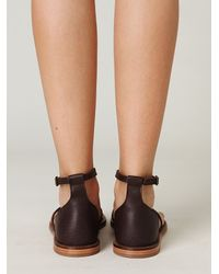 Free People | Brown Athena Sandal | Lyst