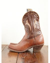 Free People | Brown Vintage Acme Cowboy Boots | Lyst