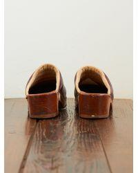 Free People - Brown Vintage Clogs - Lyst