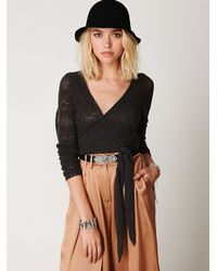Free People - Gray Cashmere Wrap - Lyst