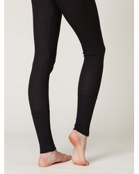 Free People - Gray Pointelle Legging - Lyst