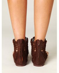 Free People | Brown Castaway Sandal | Lyst
