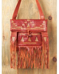 Free People | Red Palenke Nomad Bag | Lyst