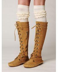 Free People - Natural Petticoat Tall Sock - Lyst