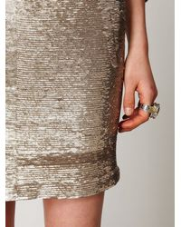 Free People | Gray Distressed Sequin Pencil Skirt | Lyst
