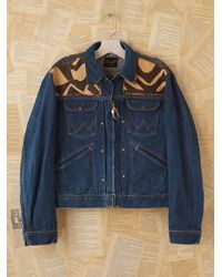 Free People | Blue Vintage African Kuba Cloth Jacket | Lyst