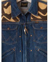 Free People - Blue Vintage African Kuba Cloth Jacket - Lyst