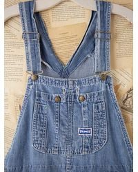 Free People - Blue Vintage Big Smith Overalls - Lyst
