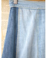 Free People | Blue Vintage Denim Maxi Skirt | Lyst