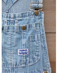 Free People - Blue Vintage Denim Overalls - Lyst