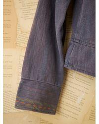 Free People - Blue Vintage Embroidered Denim Jacket - Lyst