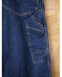 Free People - Blue Vintage Lee Denim Overalls - Lyst