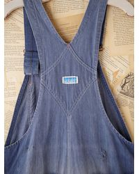 Free People | Blue Vintage Power House Overalls | Lyst