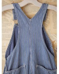 Free People - Blue Vintage Round House Overalls - Lyst