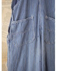 Free People | Blue Vintage Round House Overalls | Lyst